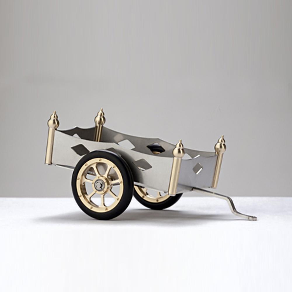 Boehm|德國工藝模型-AH1卡爾賓士-三輪汽車專用拖車