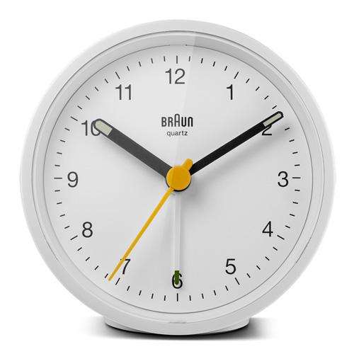 德國BRAUN百靈|復古圓型旅行鬧鐘-白(BC12W)
