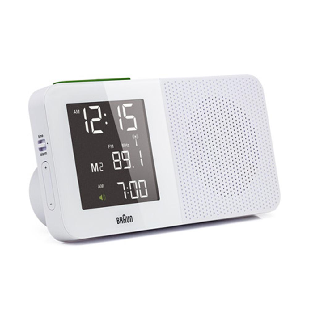 德國BRAUN百靈|電波數位收音機鬧鐘-白(BNC010WH-SRC)