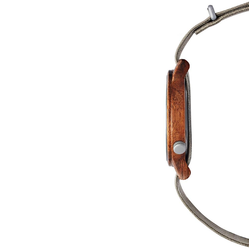 KERBHOLZ|原木手錶 Walter-核桃木 (泥灰/真皮錶帶)