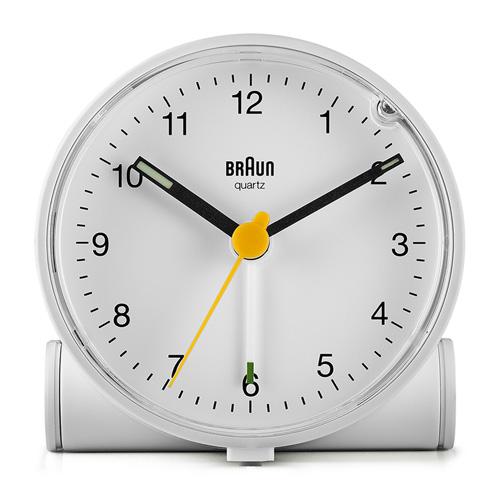 德國BRAUN百靈|經典圓型旅行鬧鐘-白(BC01W)