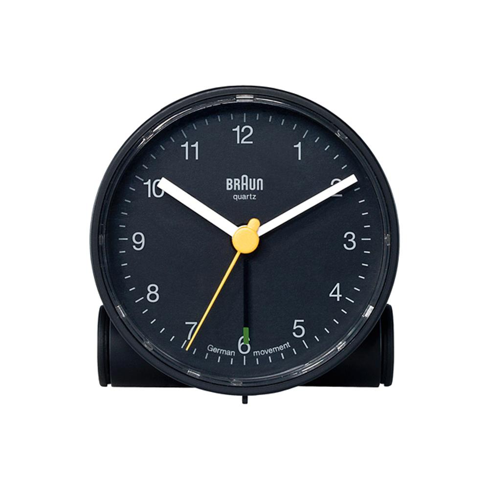 德國BRAUN百靈|經典圓型旅行鬧鐘-黑(BC01B)