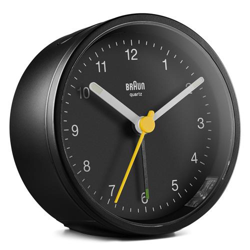 德國BRAUN百靈|復古圓型旅行鬧鐘-黑(BC12B)