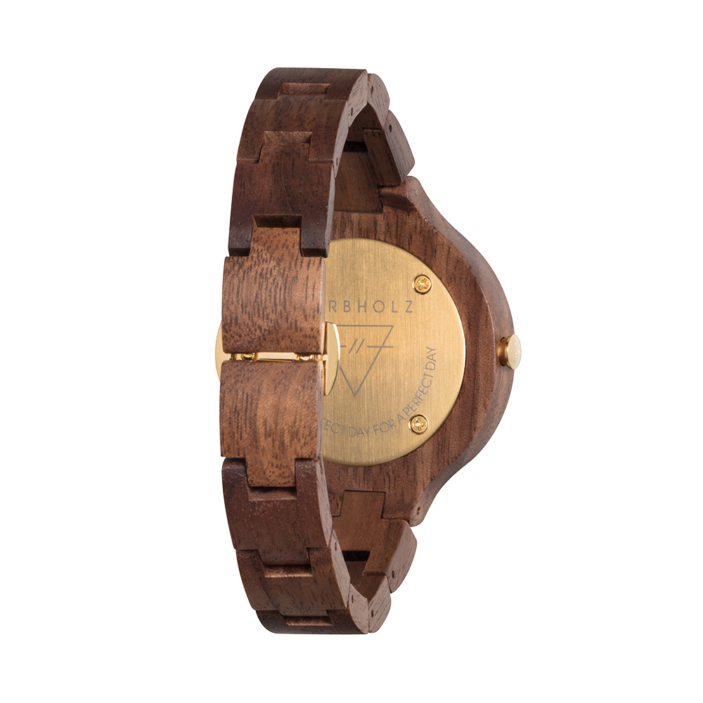 KERBHOLZ|原木手錶 Hinze-核桃木金框/38mm