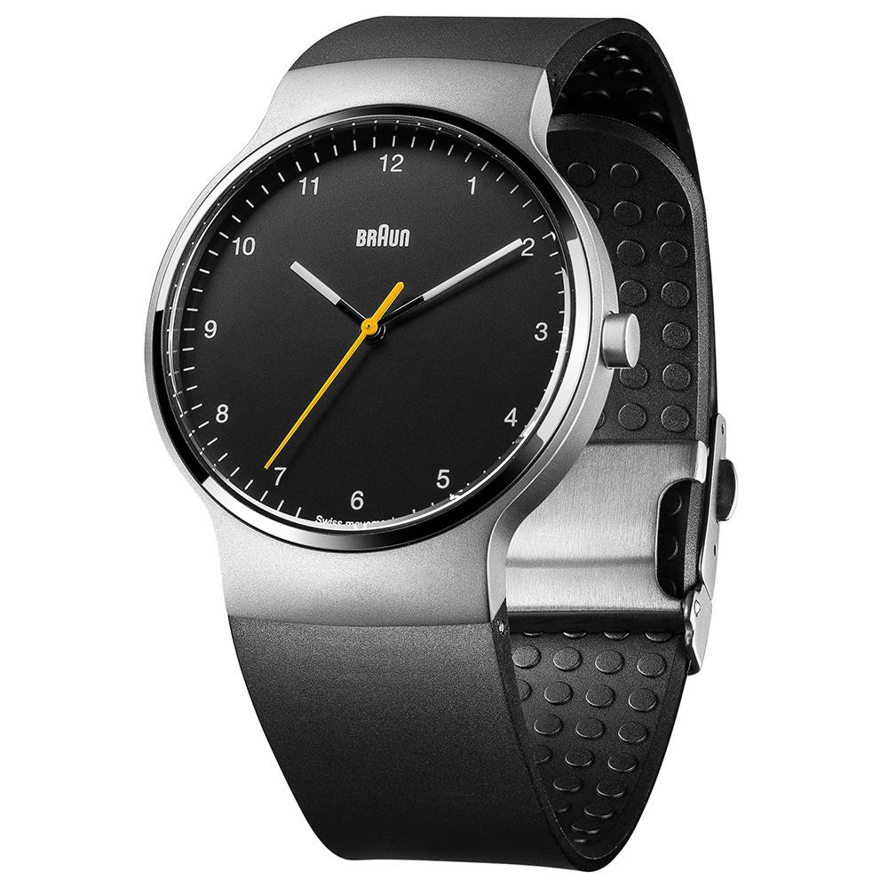 德國BRAUN百靈|尊爵系列極簡超薄石英錶 – 黑/銀