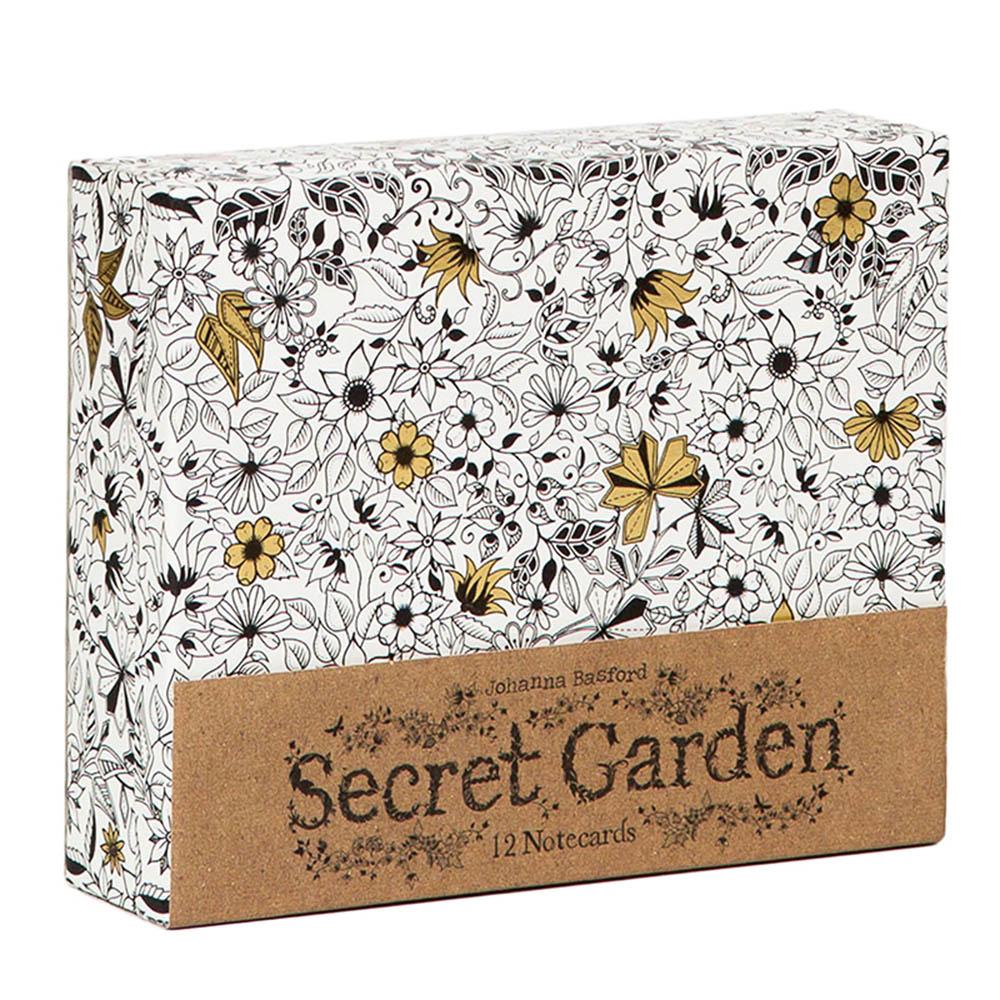 Laurence King|Secret Garden 祕密花園 - 手繪萬用卡組(12張)