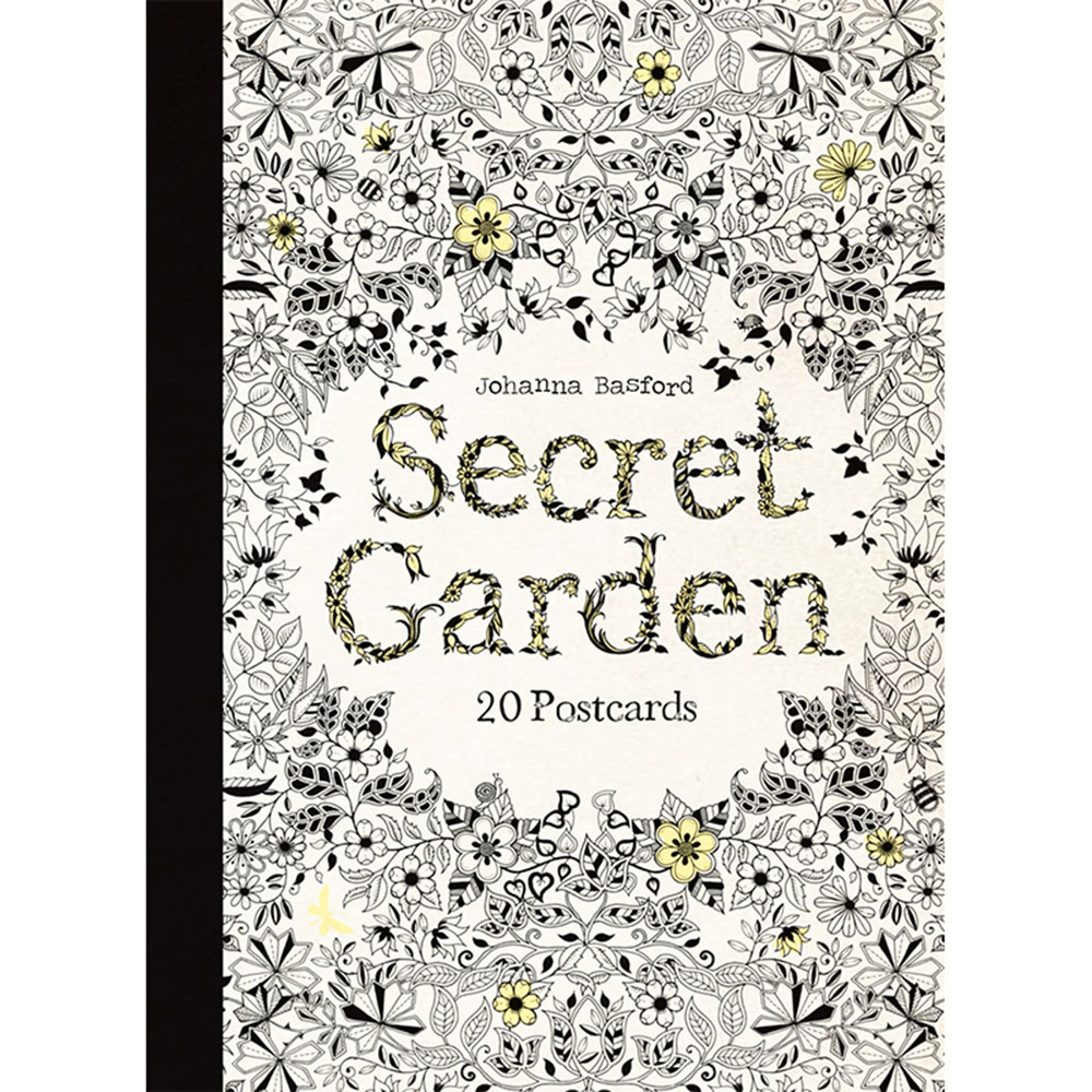 Laurence King|Secret Garden 祕密花園 - 手繪明信片組(20張)