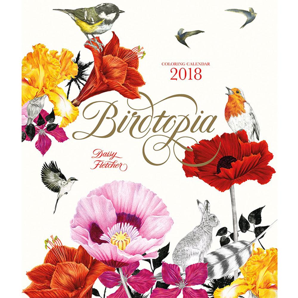 Laurence King|Birdtopia 花鳥樂園 - 2018月曆手繪本