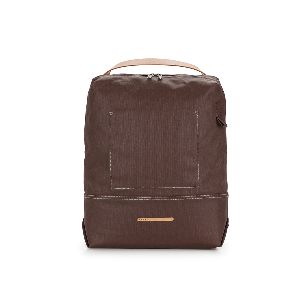 RAWROW 帆布系列-13吋極簡兩用後背包(後背/手提)-深棕-RBP522BR
