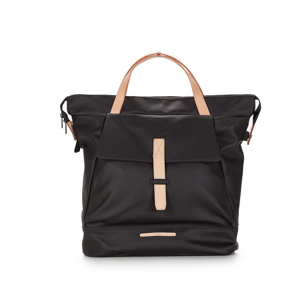 RAWROW|帆布系列-13吋俐落兩用後背包(後背/肩背)-墨黑-RBP550BK