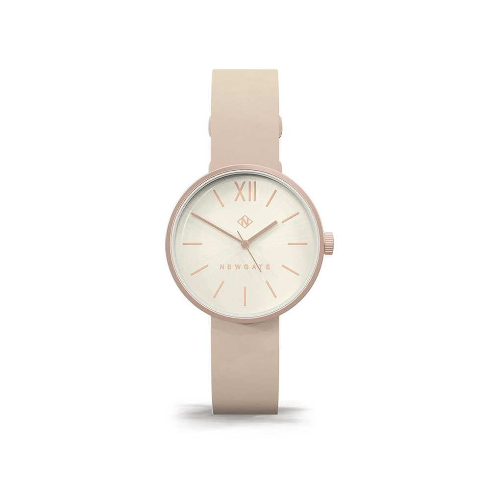 Newgate | ATOM-裸膚粉-皮革錶帶-32mm