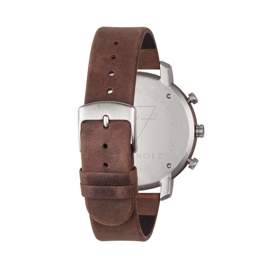 KERBHOLZ 原木手錶 FRANZ-煙燻棕(45mm)