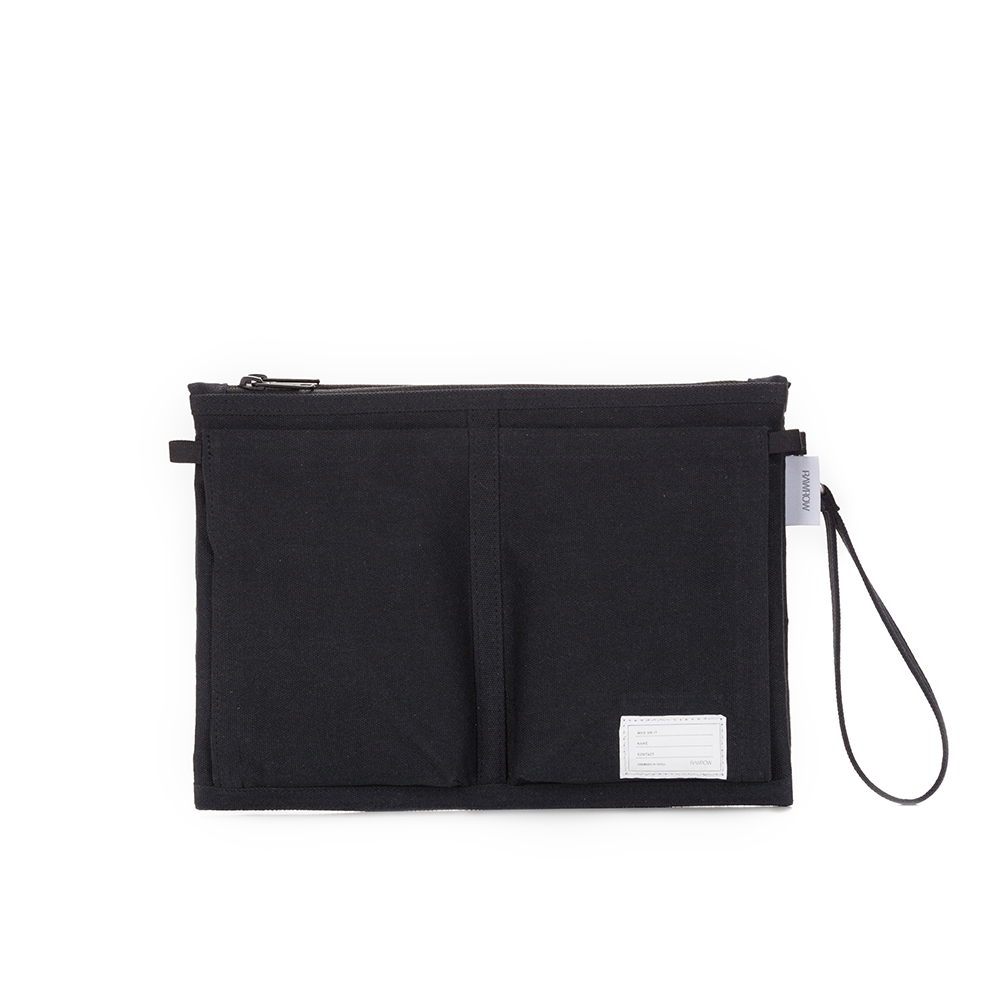 RAWROW|內袋系列-13吋收納袋(手拿/收納)-墨黑-RMD300BK