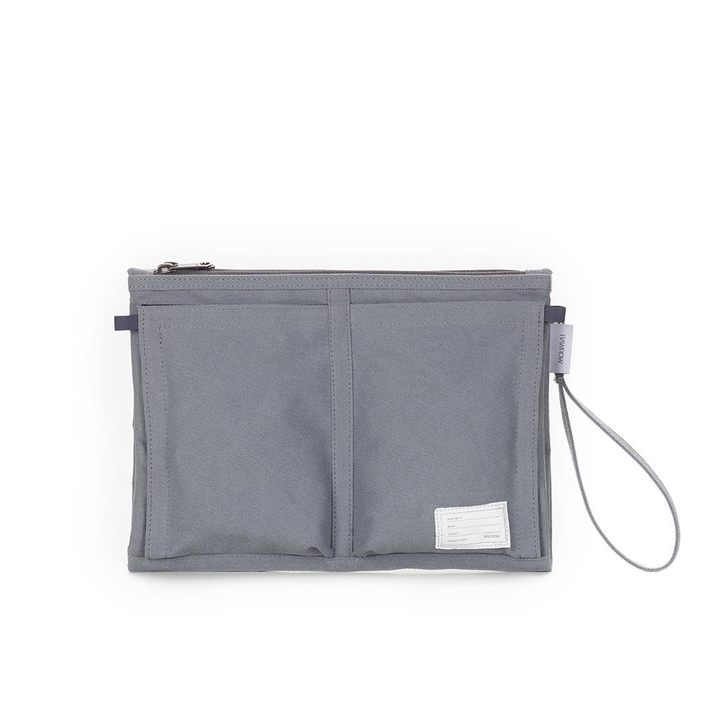 RAWROW|內袋系列-13吋收納袋(手拿/收納)-岩灰-RMD300GR