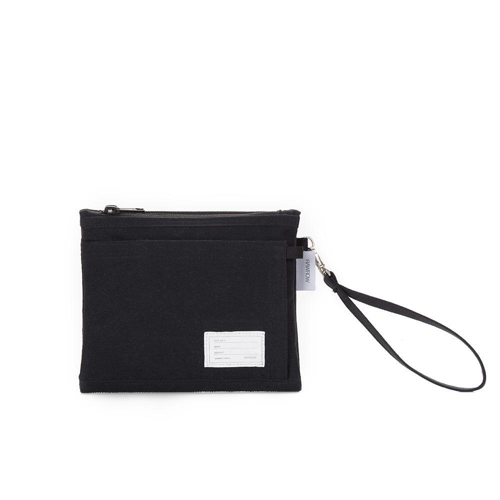 RAWROW|內袋系列-筆袋收納袋(手拿/收納)-墨黑-RMD310BK