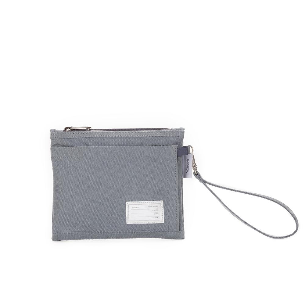 RAWROW|內袋系列-筆袋收納袋(手拿/收納)-岩灰-RMD310GR