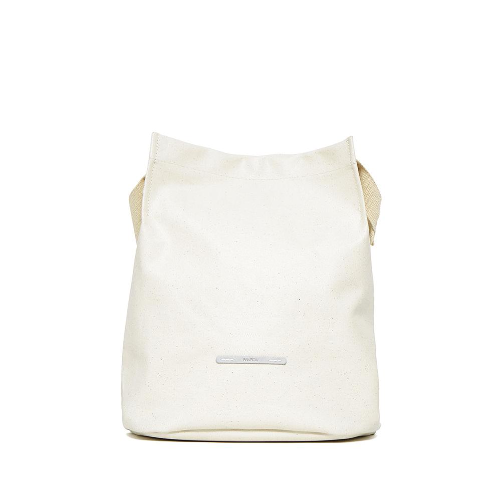 RAWROW|城市系列-雙背帶帆布水桶包(中)-亮白-RCR700WH