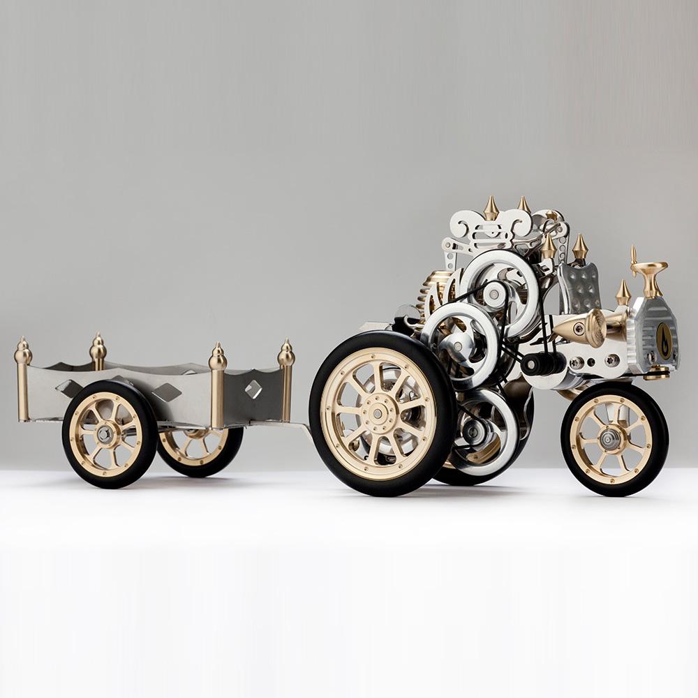 Boehm|德國工藝模型-卡爾賓士(組裝版) + 專用拖車 (The Stirling Car A1)