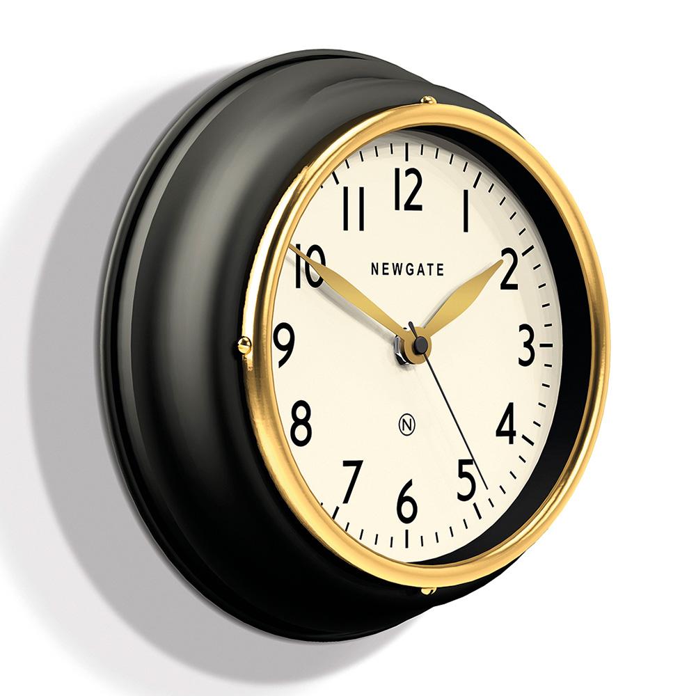 Newgate   英倫風格時鐘-經典數字-紳士黑-23cm