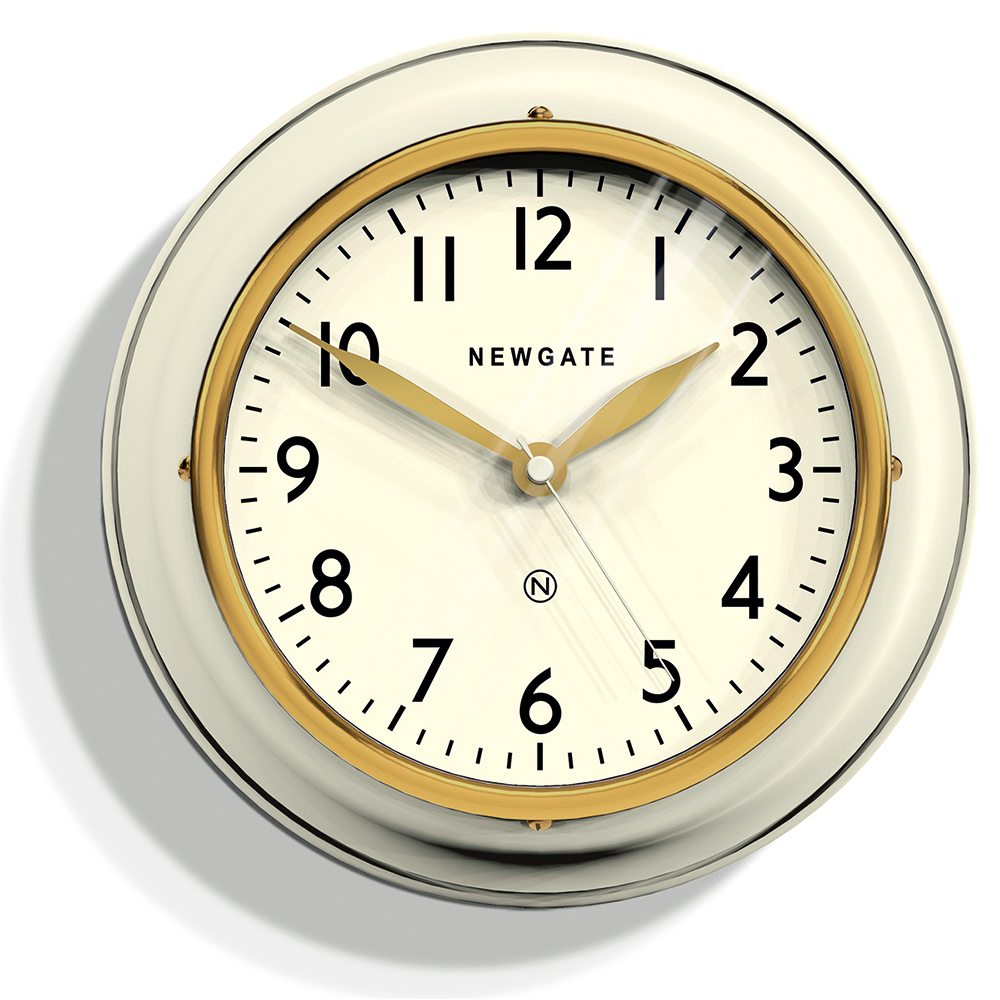 Newgate | 英倫風格時鐘-經典數字-奶油白-23cm