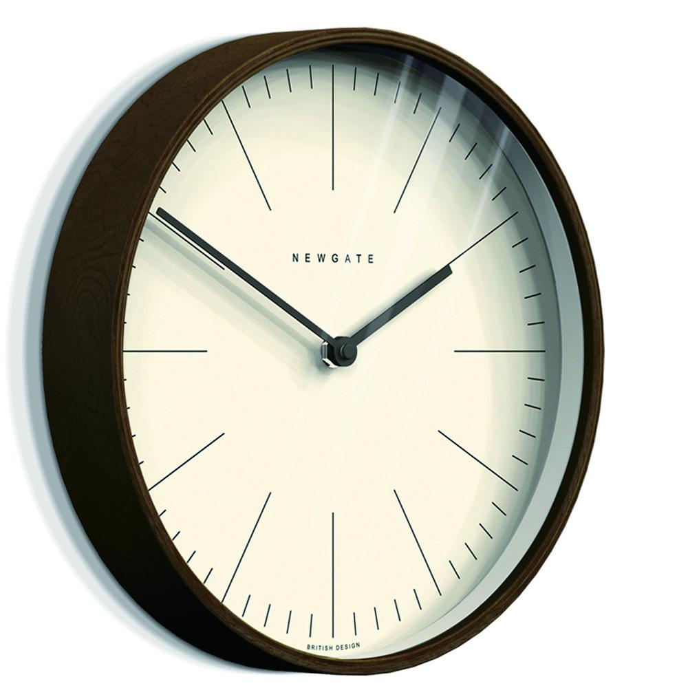 Newgate | 英倫風格時鐘-克拉克-核桃木紋-30cm