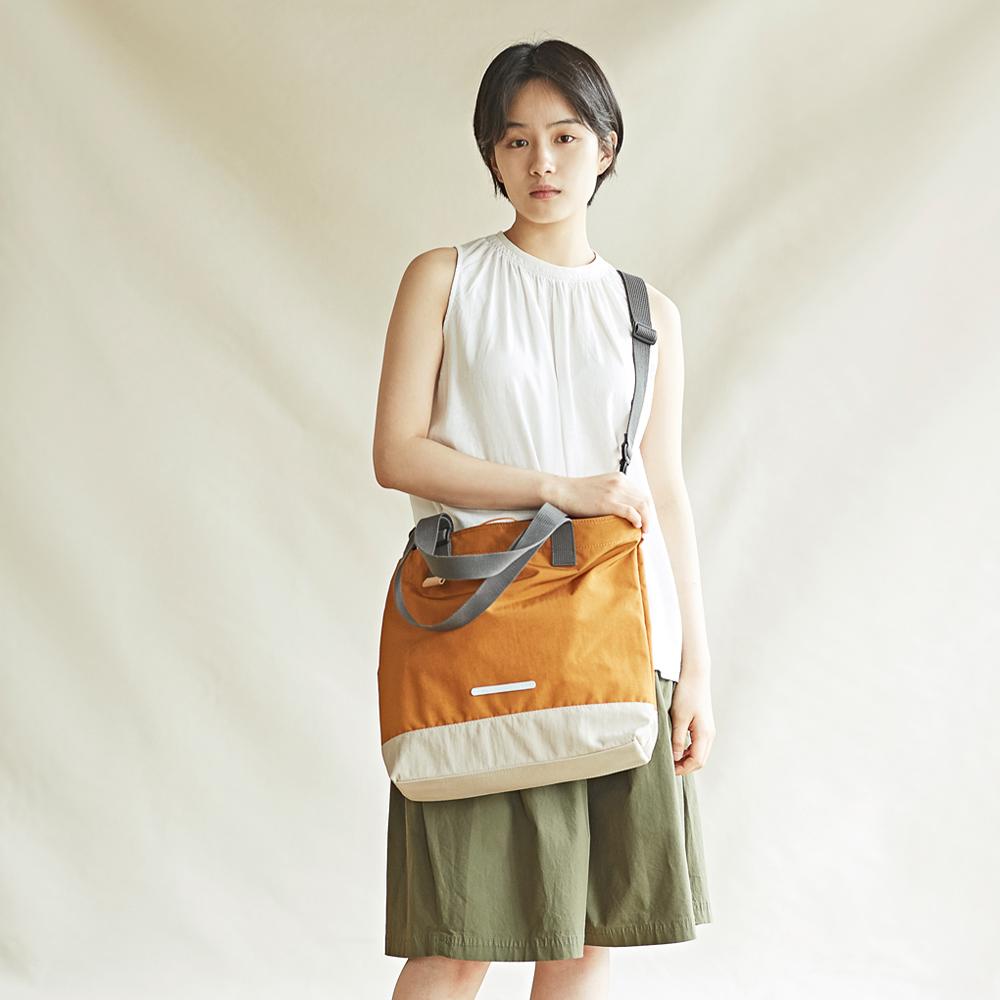 RAWROW|樸真系列-13吋兩用托特包(手提/肩背)-陽光橙-RTO292OR