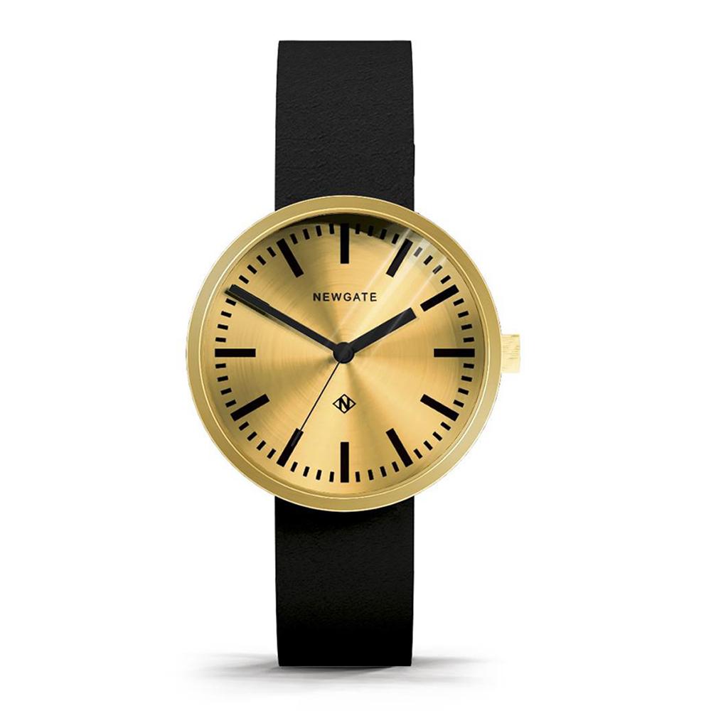 Newgate | DRUMMER-典雅金-義大利皮革錶帶-40mm