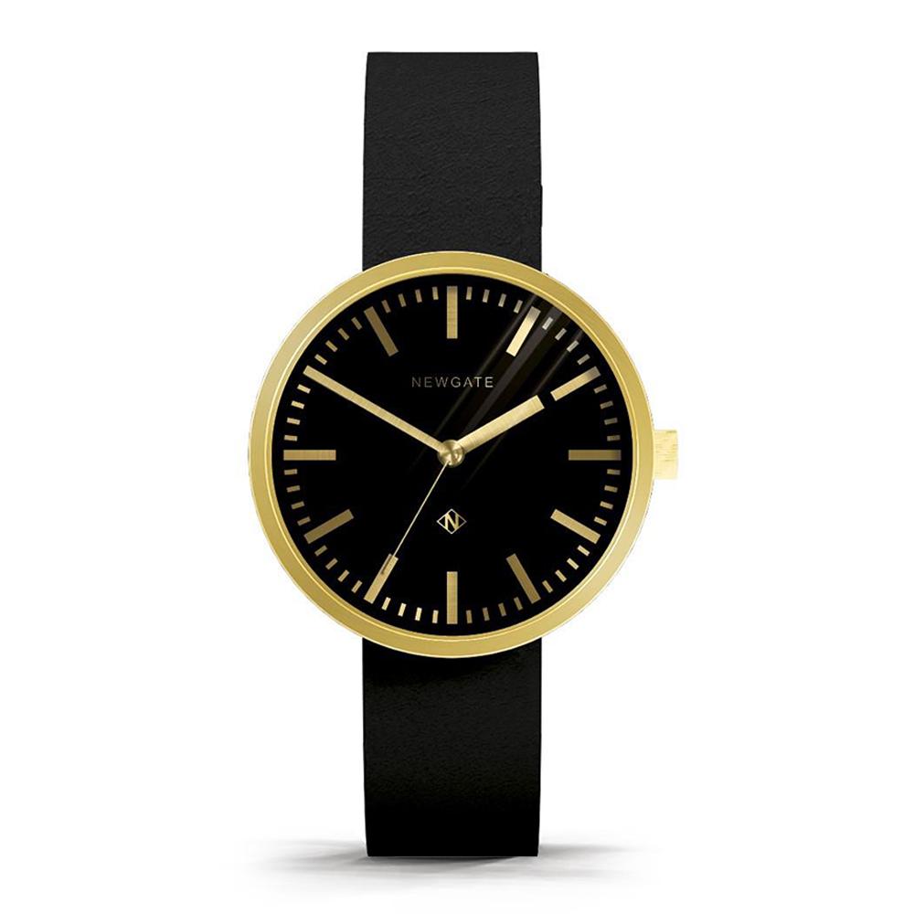 Newgate | DRUMMER-永恆金-義大利皮革錶帶-40mm