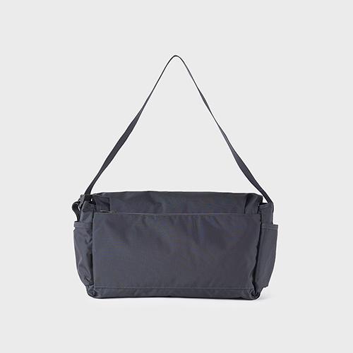 RAWROW|廣場系列-肩/側背郵差包(大,37x22cm)-深藍灰-RMS600CH