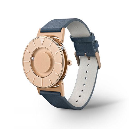 EONE The Bradley 觸感腕錶 (純玫瑰金-深藍錶帶)