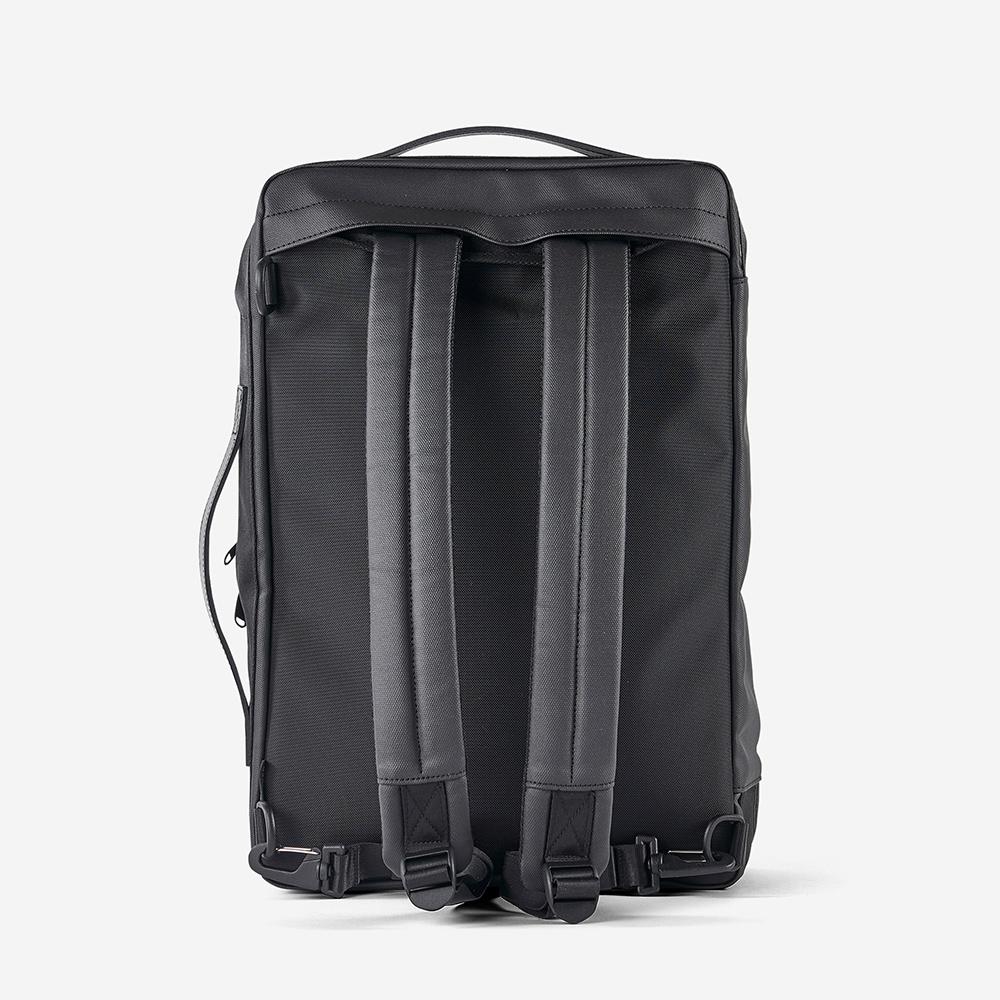 RAWROW|極黑系列-15吋三用雙層後背包(手提/肩背/後背)-RBP162BK