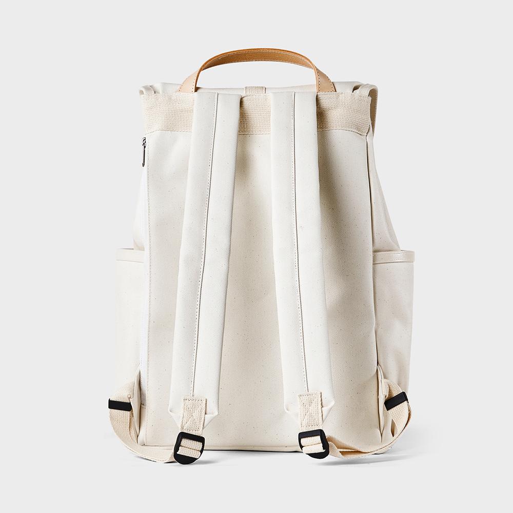 RAWROW|公園系列-15吋兩用束口後背包(手提/後背)-淨白-RBP700OW
