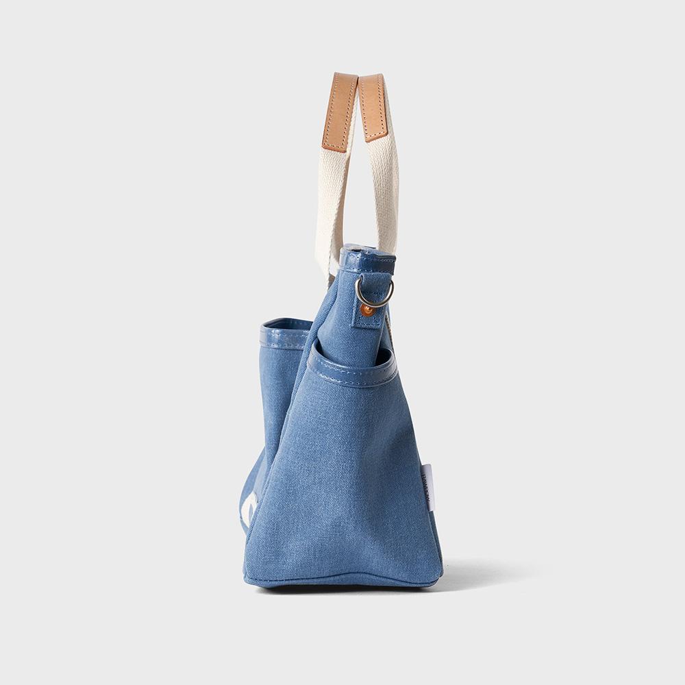 RAWROW|公園系列-雙層兩用包(手提/肩背,中,31x26cm)-靛藍-RCR730IB
