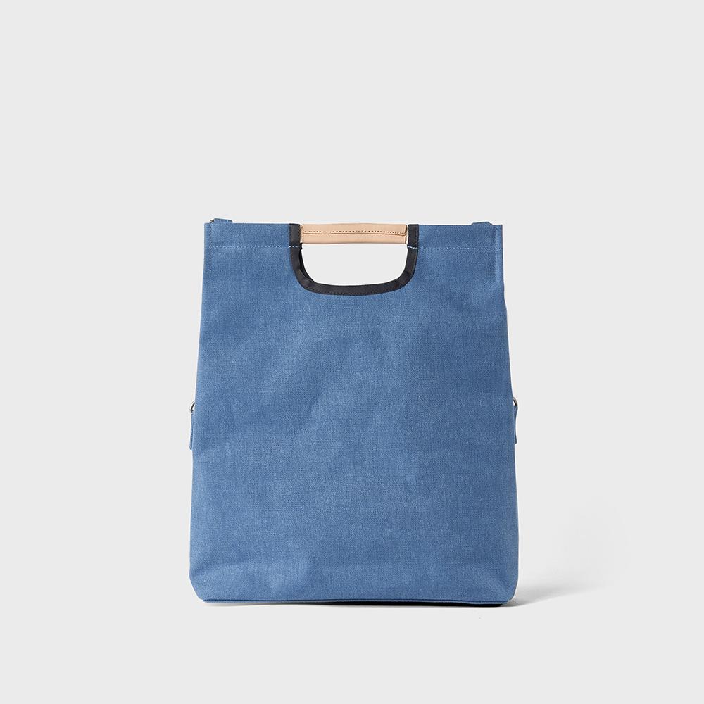 RAWROW|公園系列-摺疊三用托特包(手提/側背/肩背)-靛藍-RTO281IB