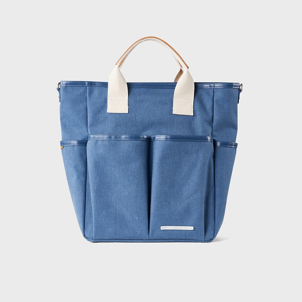 RAWROW|公園系列-13吋兩用雙層托特包(手提/肩背)-靛藍-RTO700IB