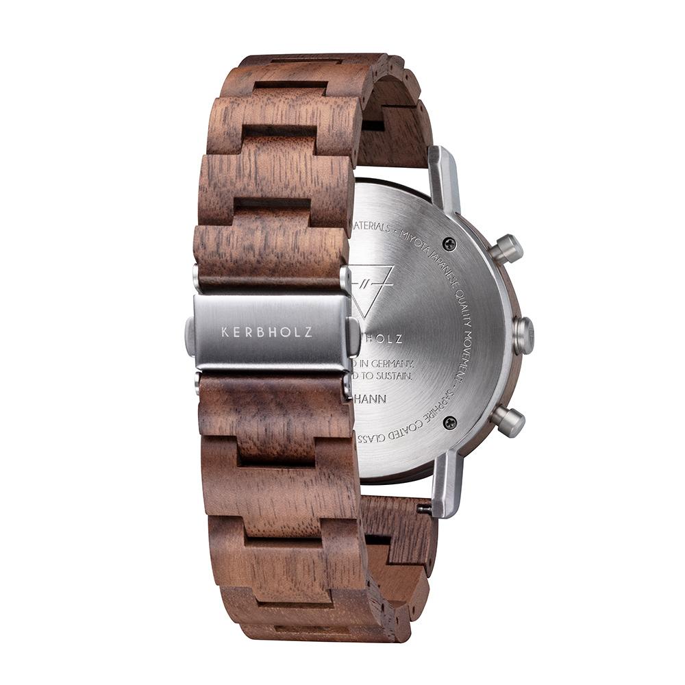 KERBHOLZ|原木手錶-Johann-核桃木(45mm)