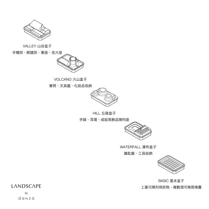 Landscape地景置物盒|山谷 夕陽橙