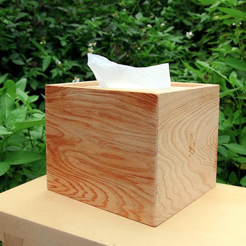 HappyWood|台灣檜木方形衛生紙盒