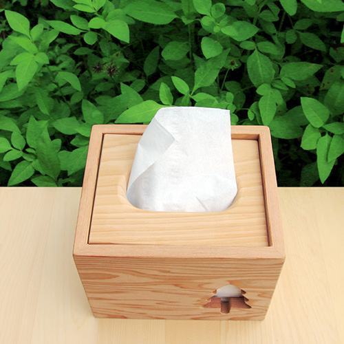 HappyWood 台灣檜木小樹方形衛生紙盒