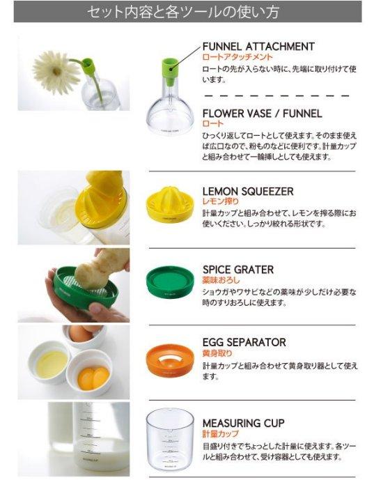 日本品牌【AKEBONO/曙產業】五合一廚房法寶瓶 KC-923