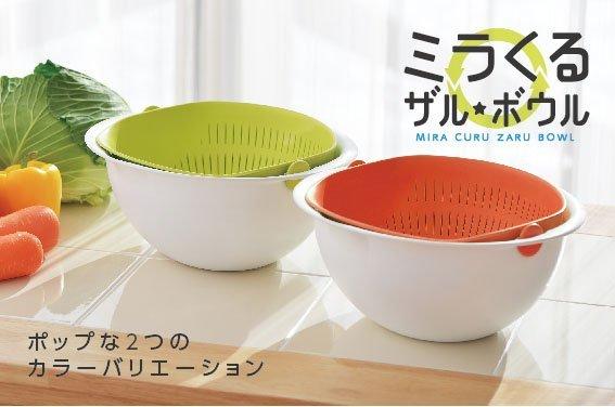 日本品牌【AKEBONO/曙產業】搖蓋式洗米籃(M) MZ-3512