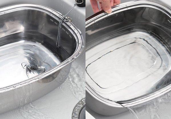 日本品牌【Arnest】栓式高腳金幣型洗碗桶