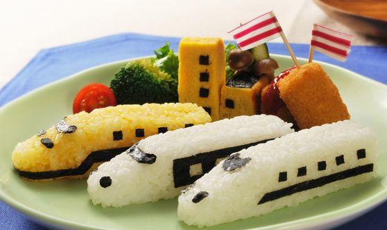 日本品牌【Arnest】電車造型飯糰模
