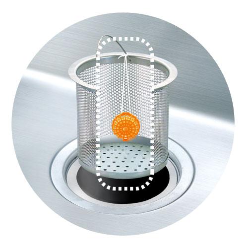 不動化學 | 橘子排水口消臭防滑清潔球
