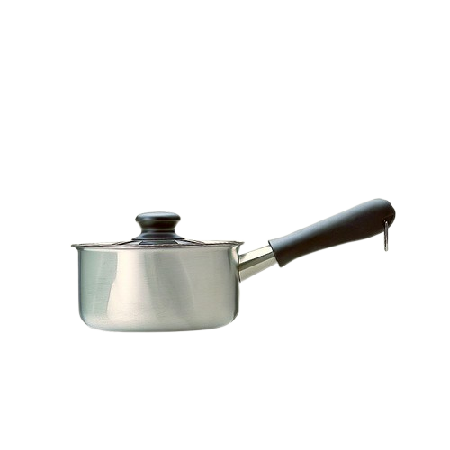 柳宗理-不鏽鋼 16cm 單柄鍋 亮面(附蓋)-日本大師級商品