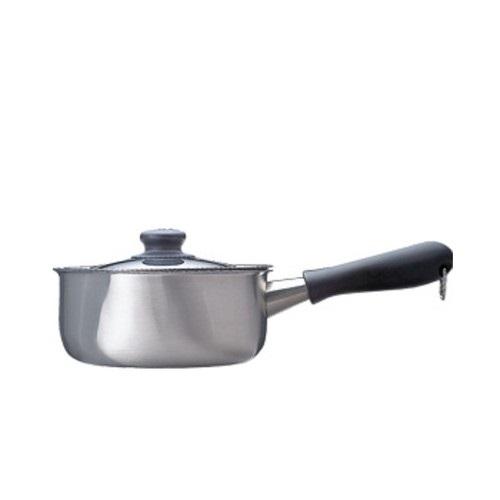 柳宗理-不銹鋼 18cm 亮面 單柄鍋(附蓋)-大師級商品