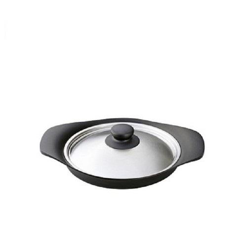 柳宗理-南部鐵器-橫紋煎盤(附不鏽鋼蓋)日本大師級商品