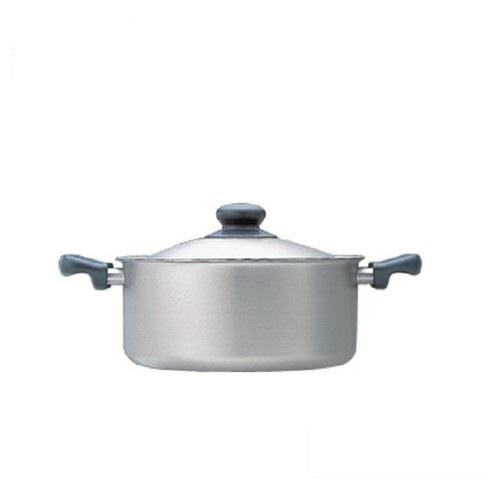 柳宗理-不鏽鋼 三層鋼 淺型 22cm IH 雙耳鍋-大師級商品