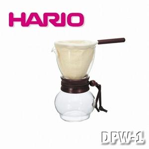 【HARIO】玻璃手沖咖啡壺組-3~4人/DPW3(含法蘭絨濾布).