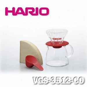 【HARIO】V60 玻璃濾杯 咖啡壺組 珊瑚色1~2杯/VGS-3512-CO